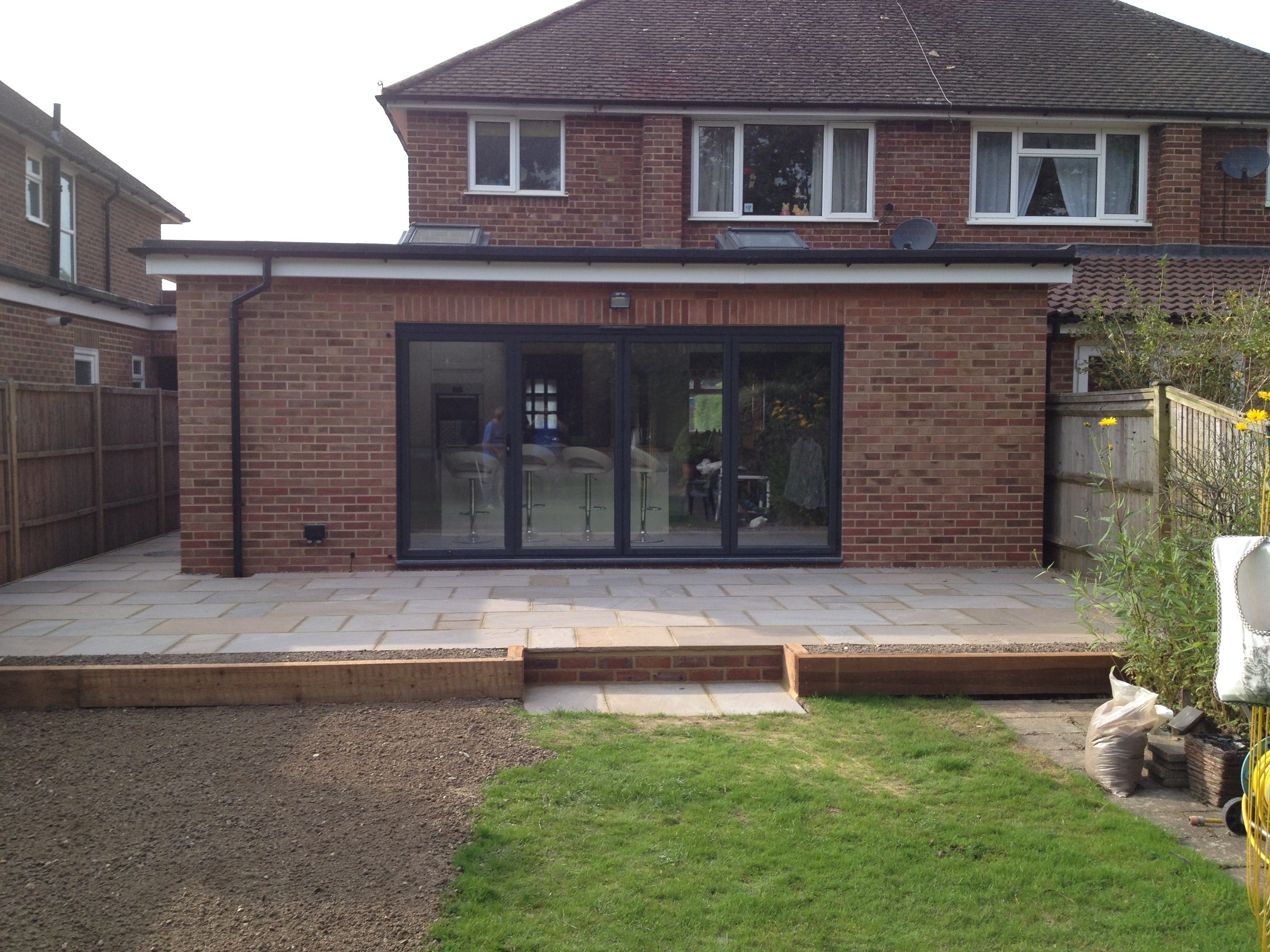 Completed Extension Porch And Patio In Horley Wmd Building