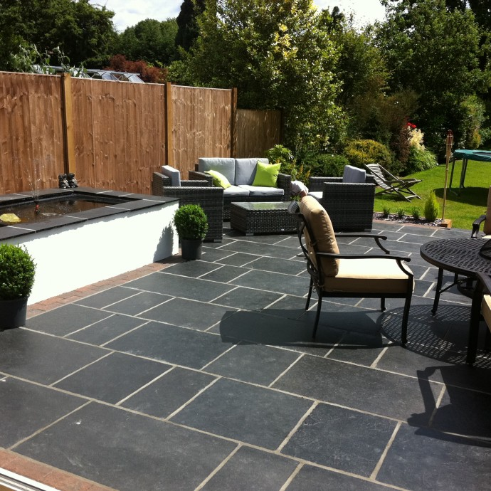 New patio in Horley.